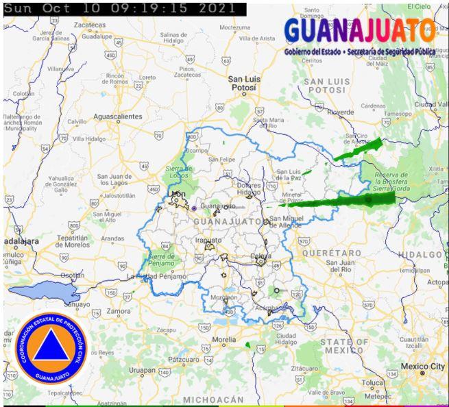 SE MANTIENE LA PROBABILIDAD DE LLUVIAS AISLADAS DURANTE LAS PRÓXIMAS HORAS EN GUANAJUATO.